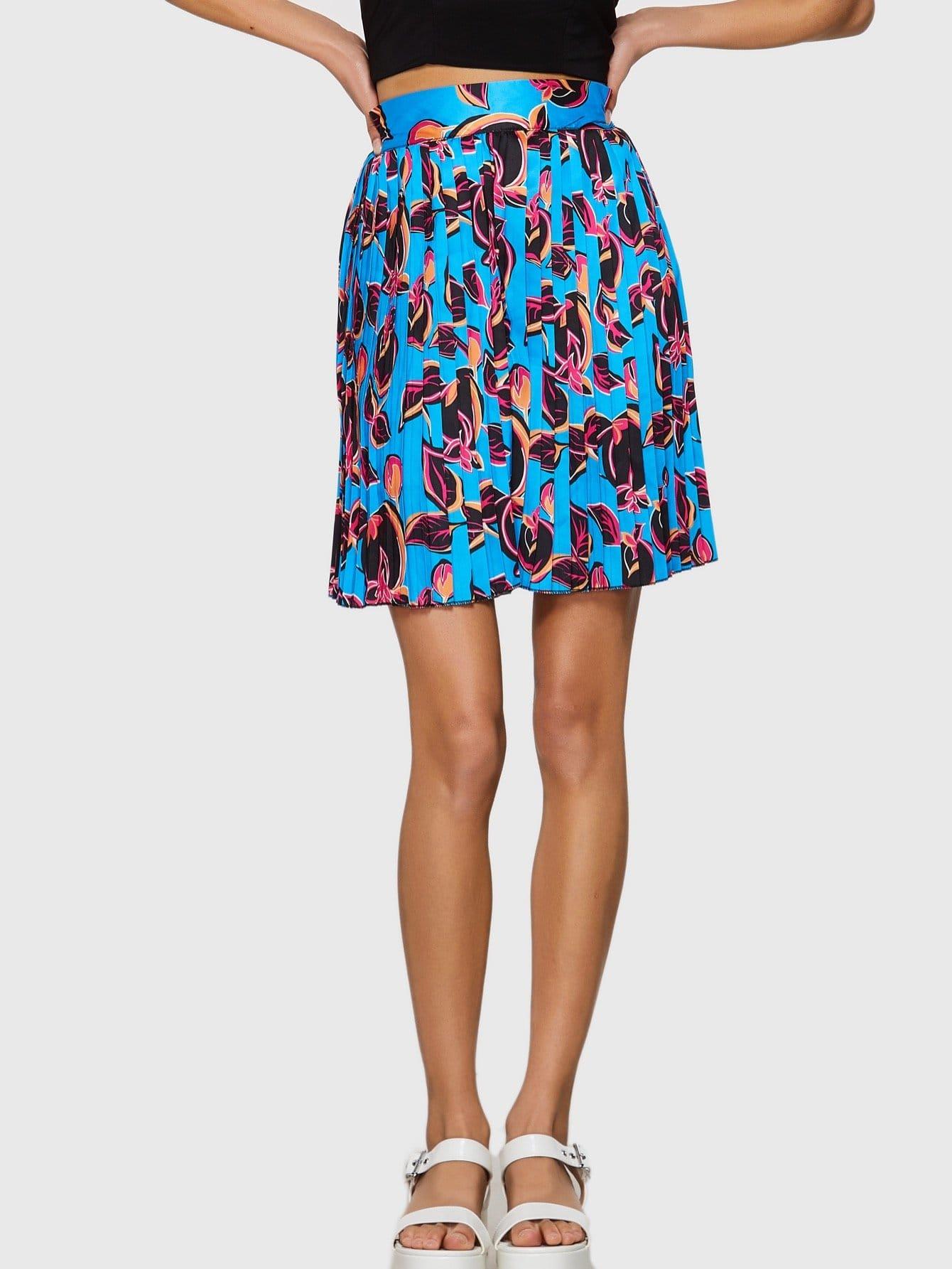 Купить Широкая полосатая круглая круглая юбка, Ruby Muldoon, SheIn