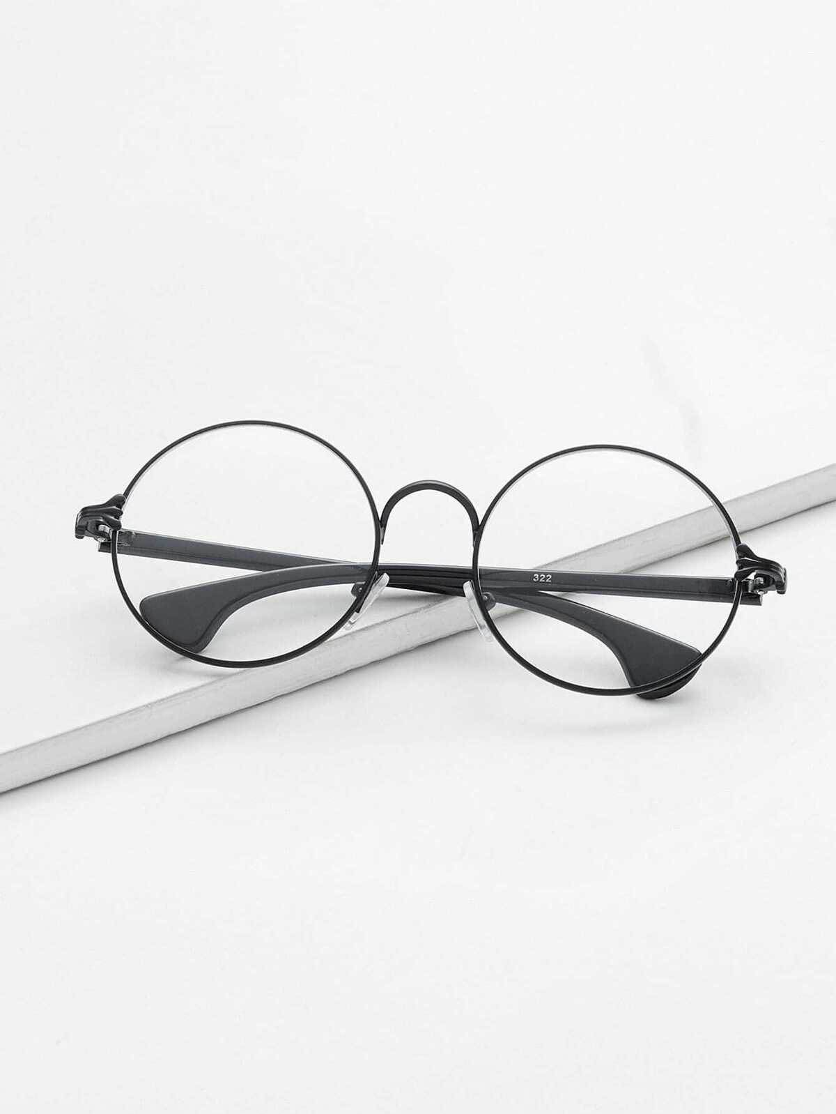 磨砂 黑色 框 透明鏡片 眼鏡