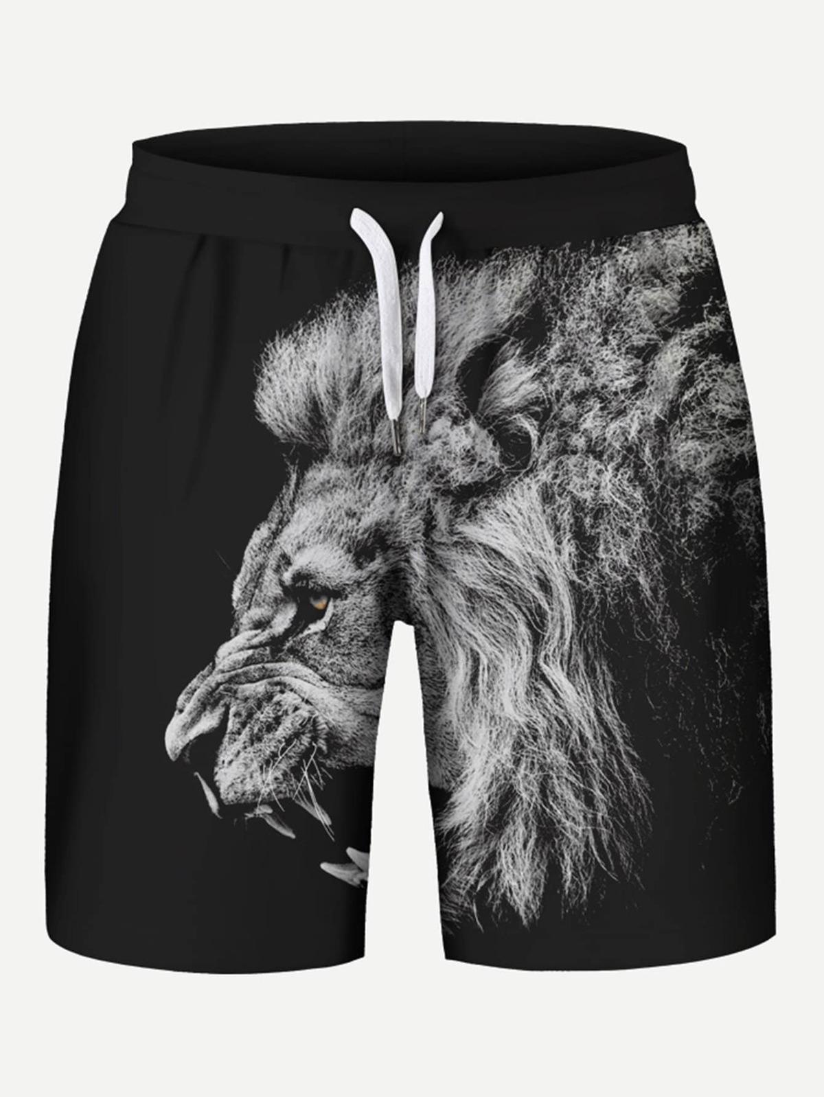 男人 獅子 圖片 束帶 短褲