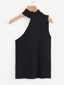 Asymmetric Cut Knit Top