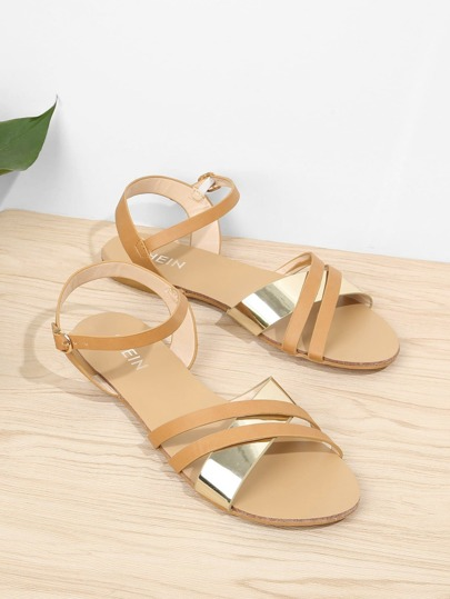 Criss Cross Ankle Strap Sandals