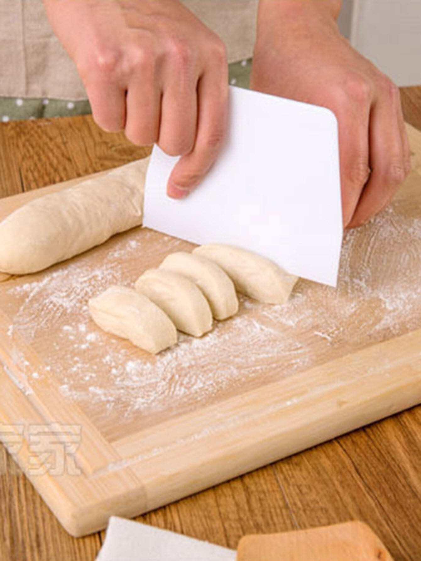 Plastic Pastry Scraper plastic flour butter cutter scraper white size l