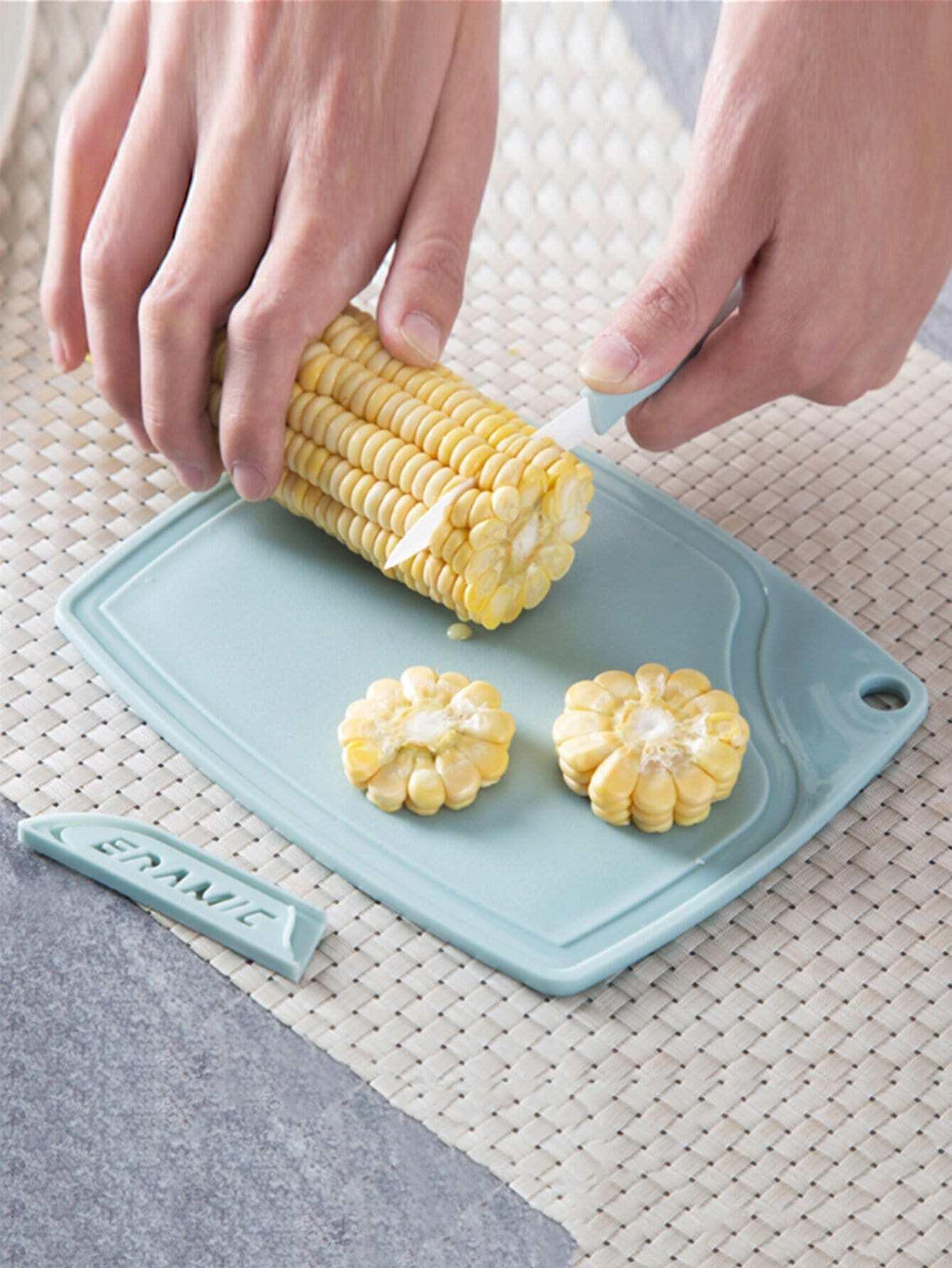 Ceramic Knife & Peeler & Chopping Board Set chic ceramic paring knife chefs knife chopping knife peeler w holder black 5 pieces