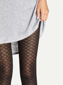 Footless Plaid Tights