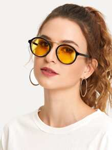 Double Frame Tinted Lens Sunglasses
