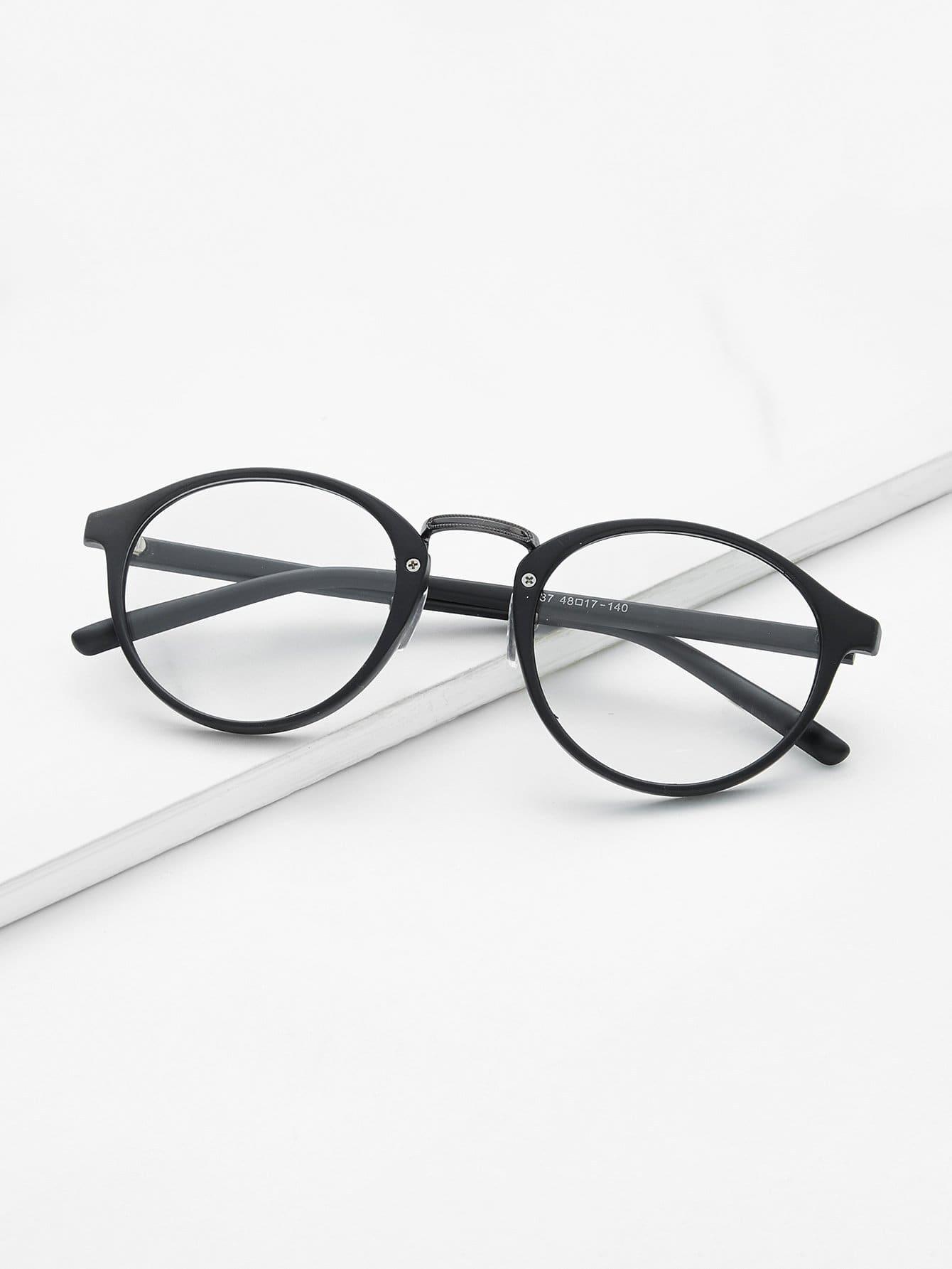 Black Frame Clear Lens Glasses black open frame gold trim glasses