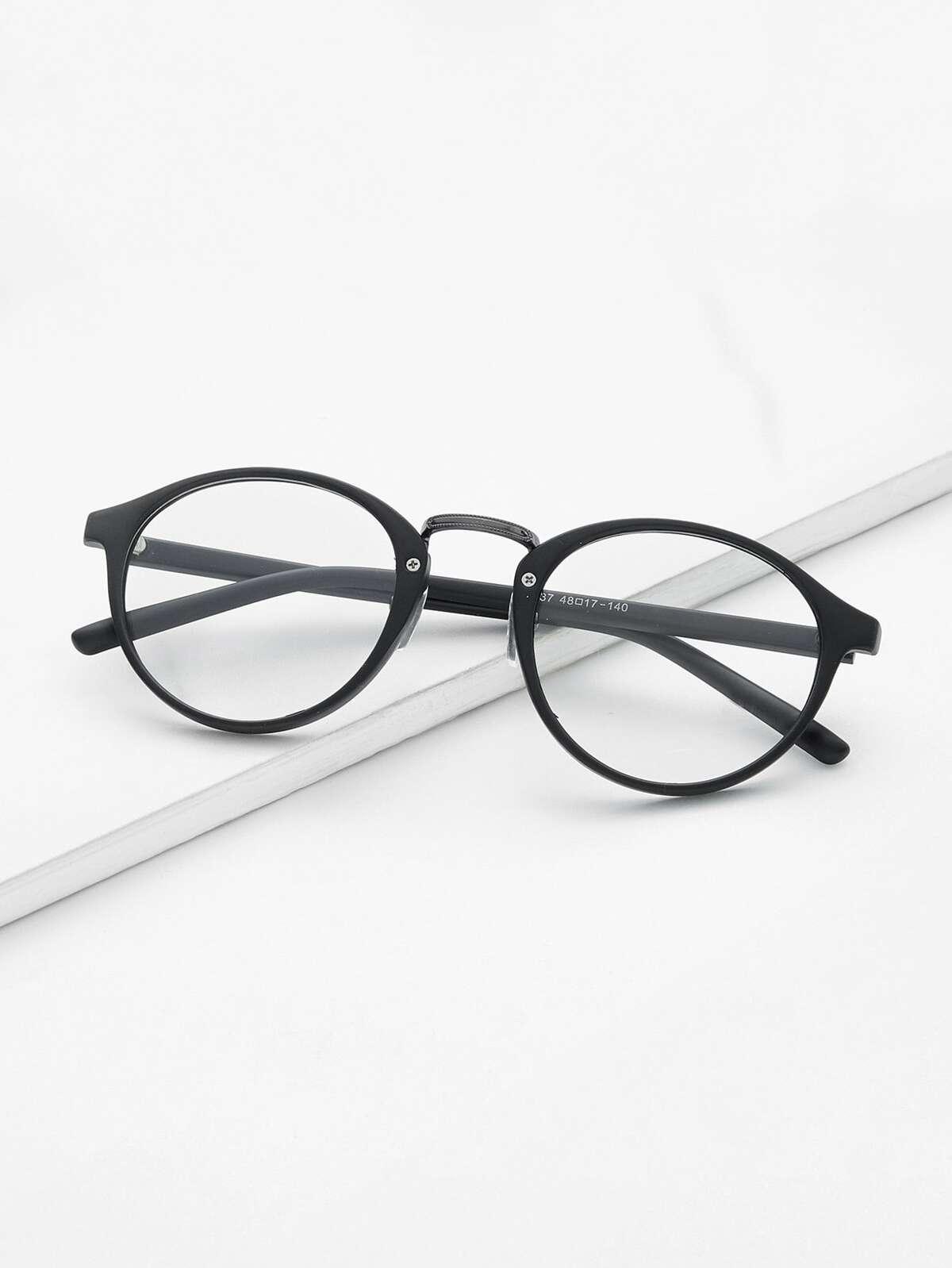 黑色 框 透明鏡片 眼鏡