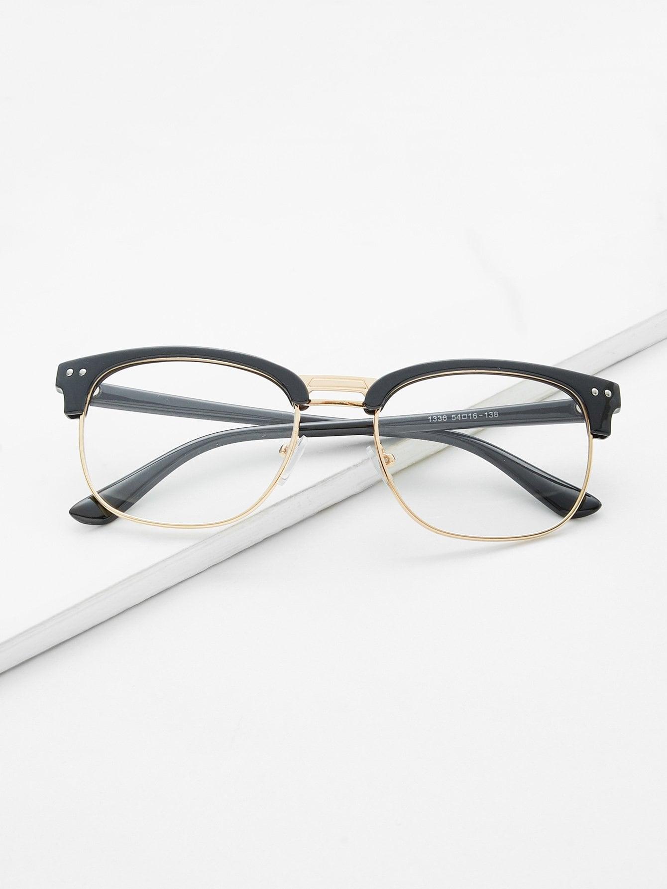 Black Open Frame Gold Trim Glasses black open frame gold trim glasses