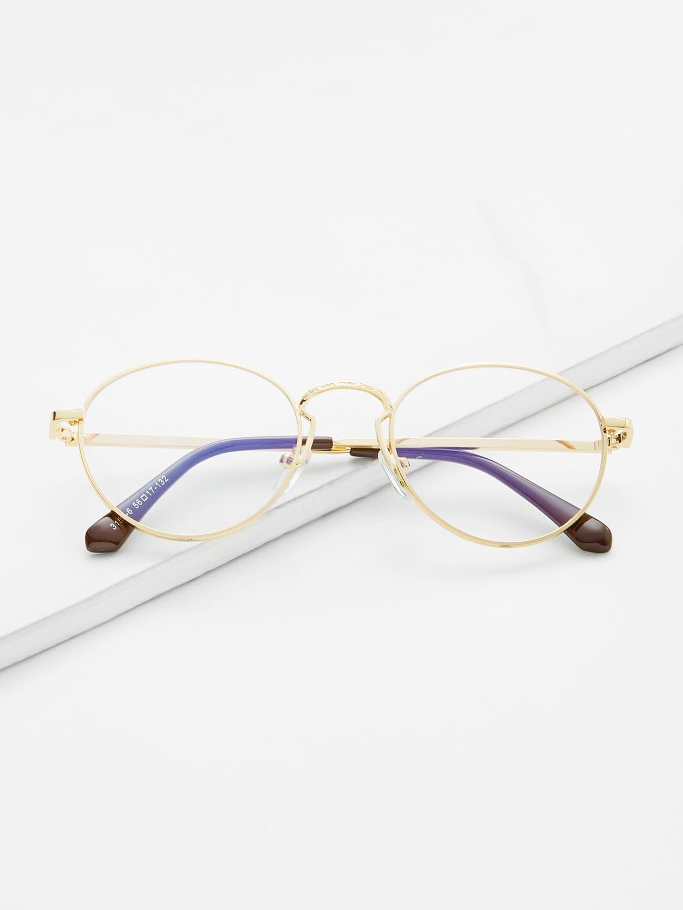 Gold Frame Clear Lens Retro Glasses clear frame cat eye glasses