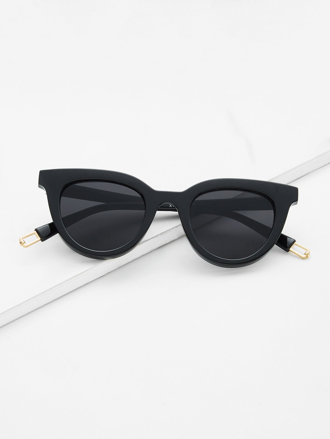 Flat Lens Cat Eye Sunglasses cat eye glasses tinize 2015 tr90 5832