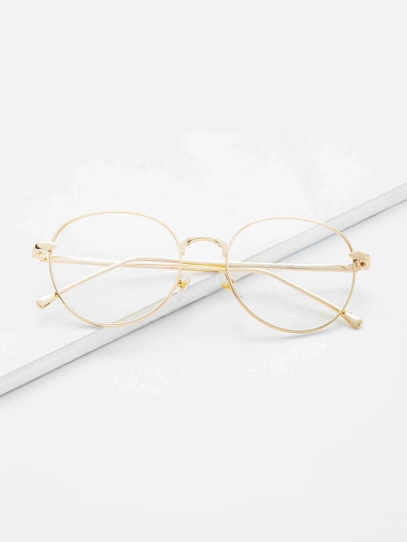 Купить Модные прозрачные очки с металлической оправой, null, SheIn
