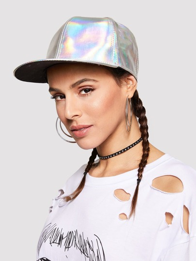 Metallic Snapback Hat