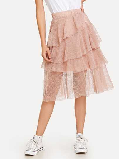 Lace Tiered Layer Skirt
