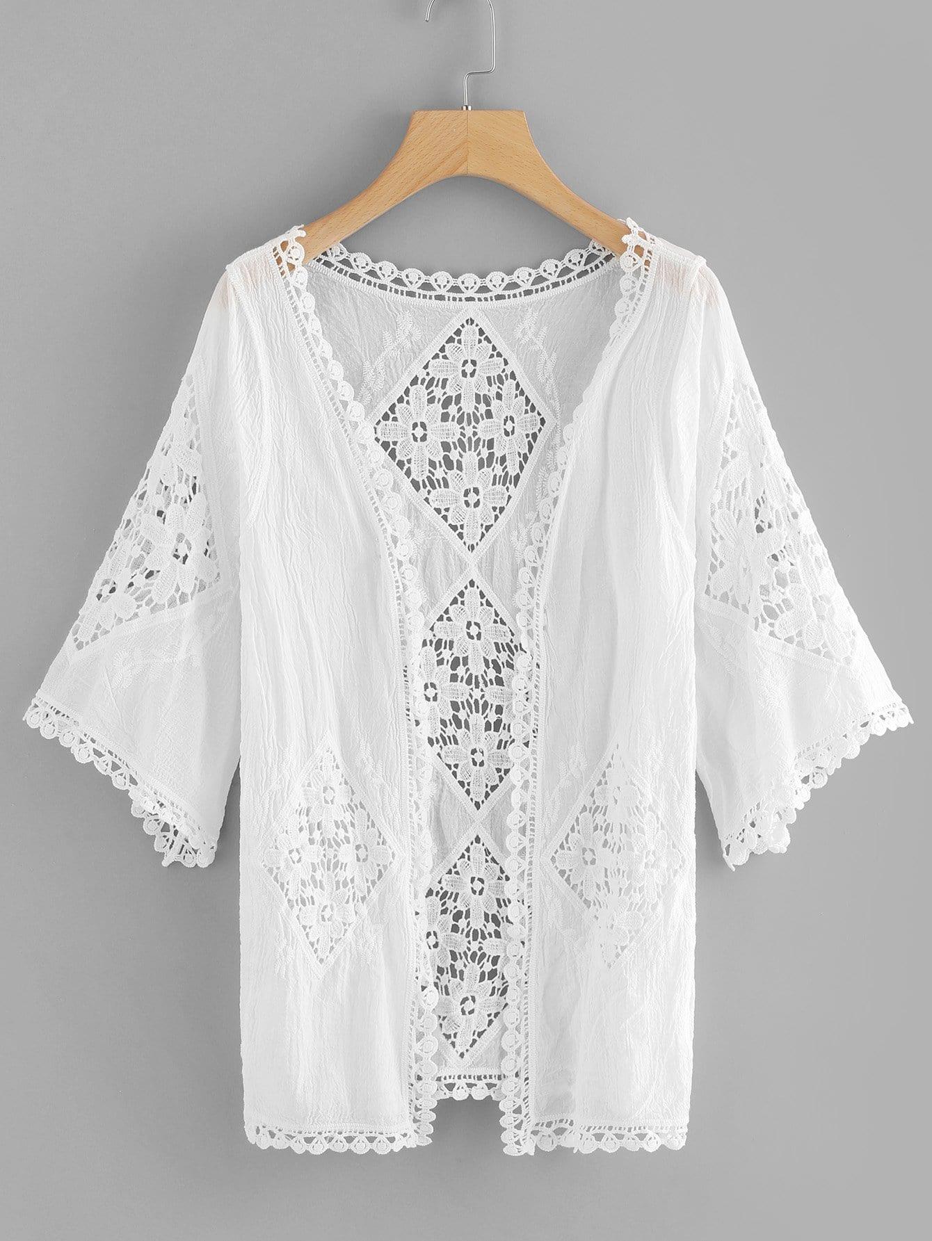 все цены на Cut Out Crochet Kimono