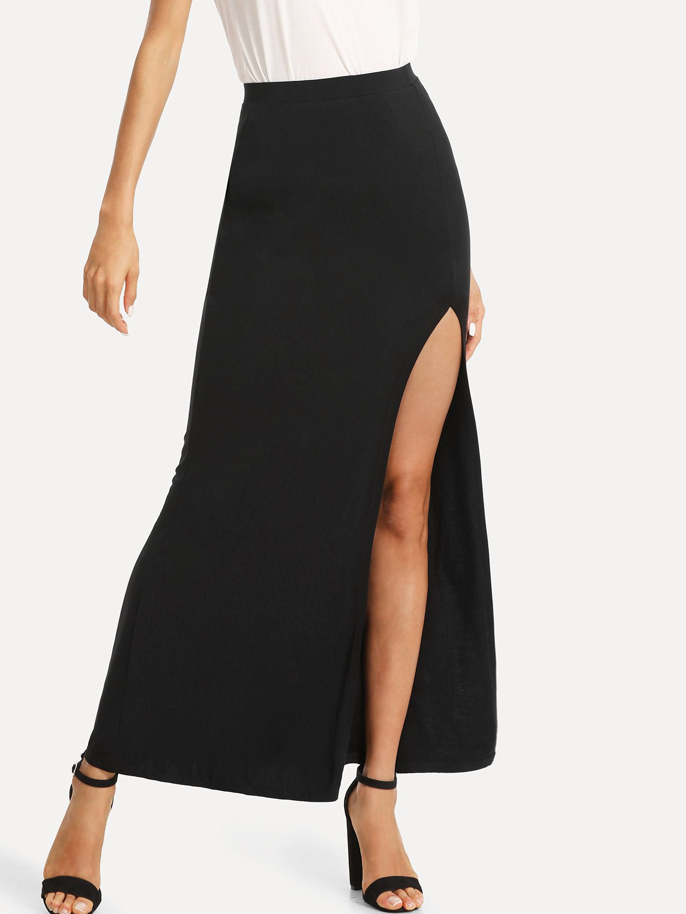 Split Front Column Skirt tribal print split front skirt