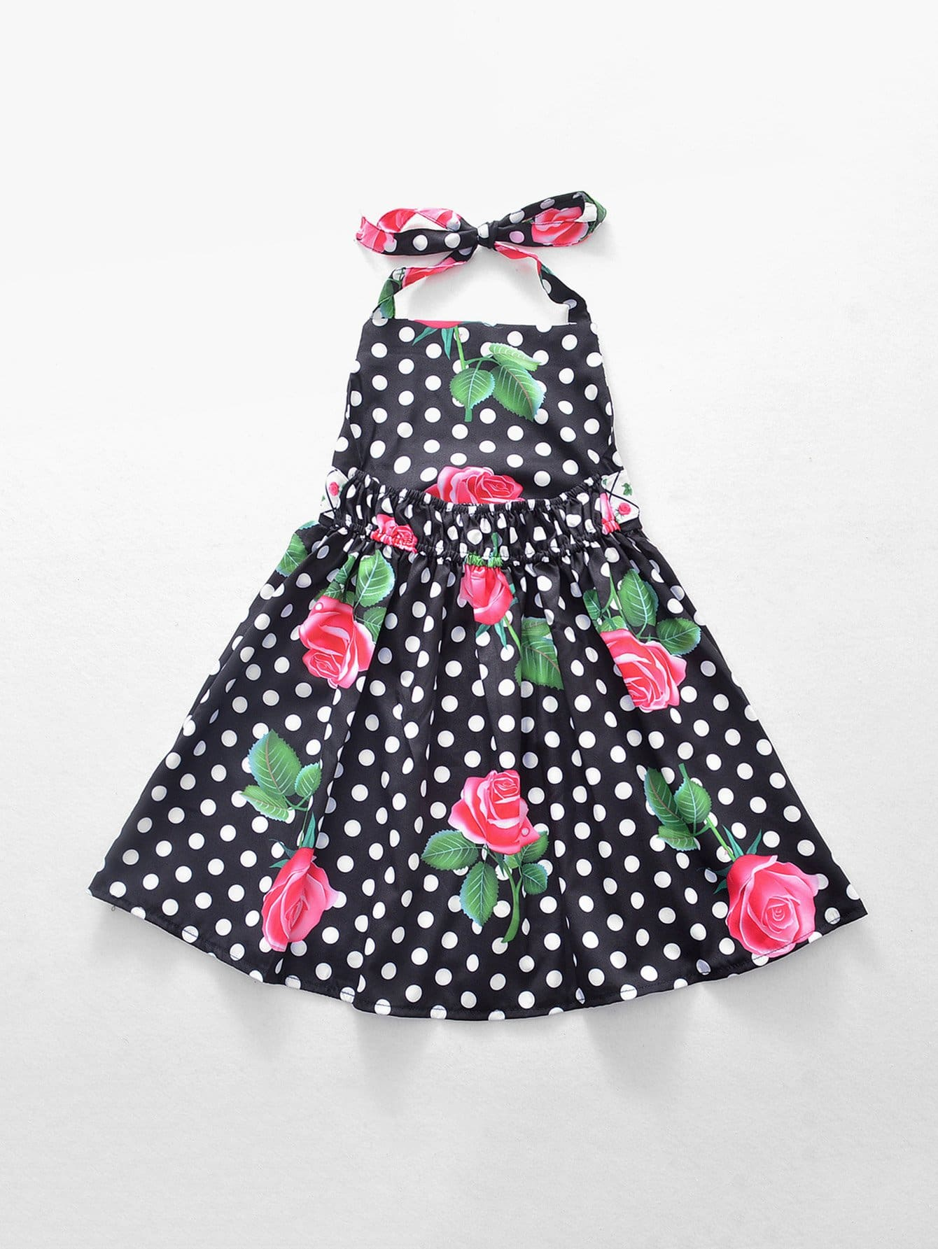 Girls Rose Print Spot Halter Dress gill sarvajeet s climate change and plant abiotic stress tolerance