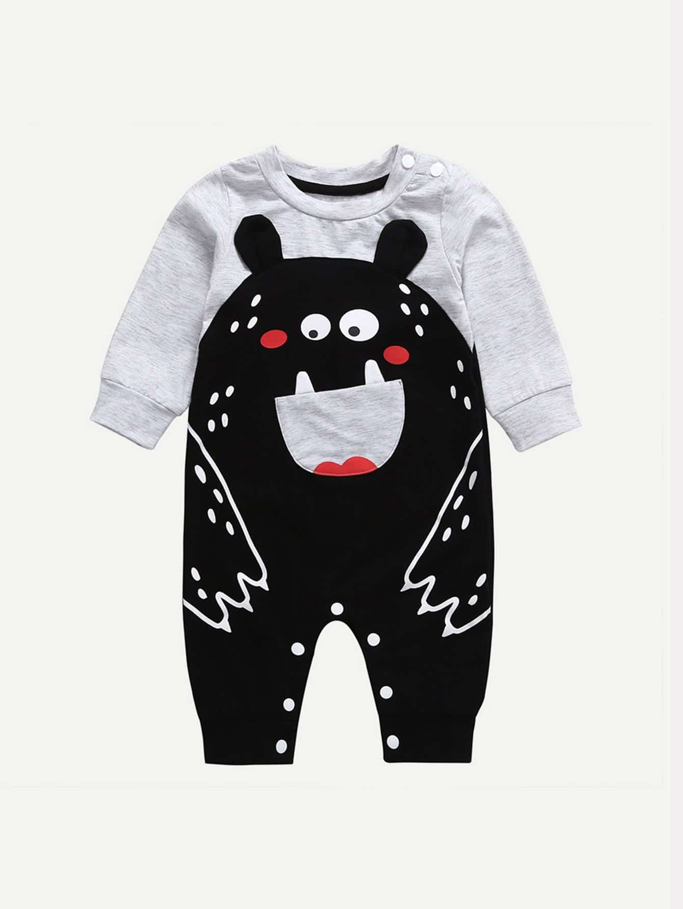 Kids Cartoon Bear Romper
