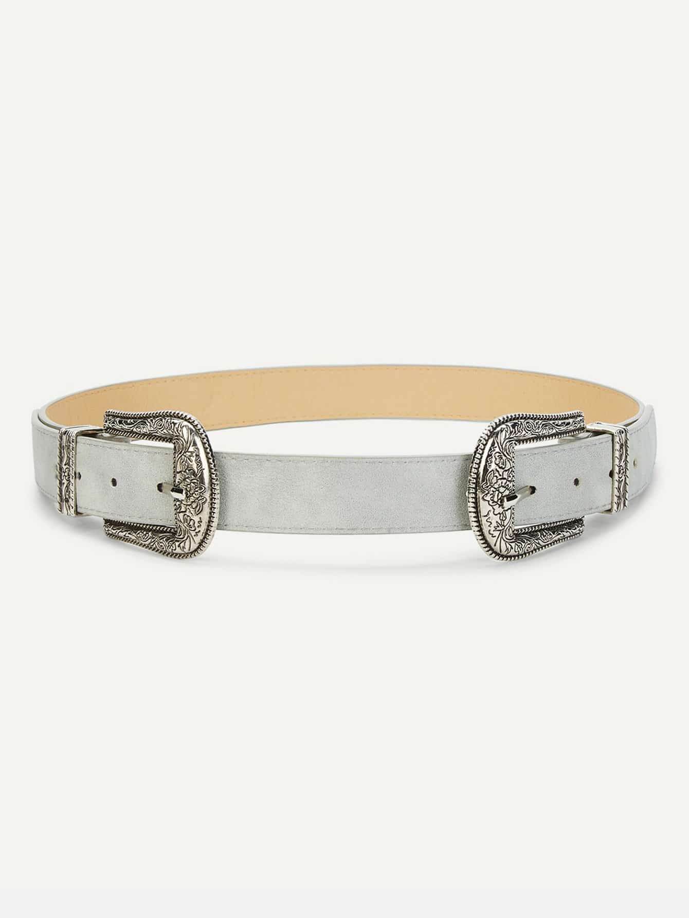 Double Western Buckle Belt double circle buckle belt