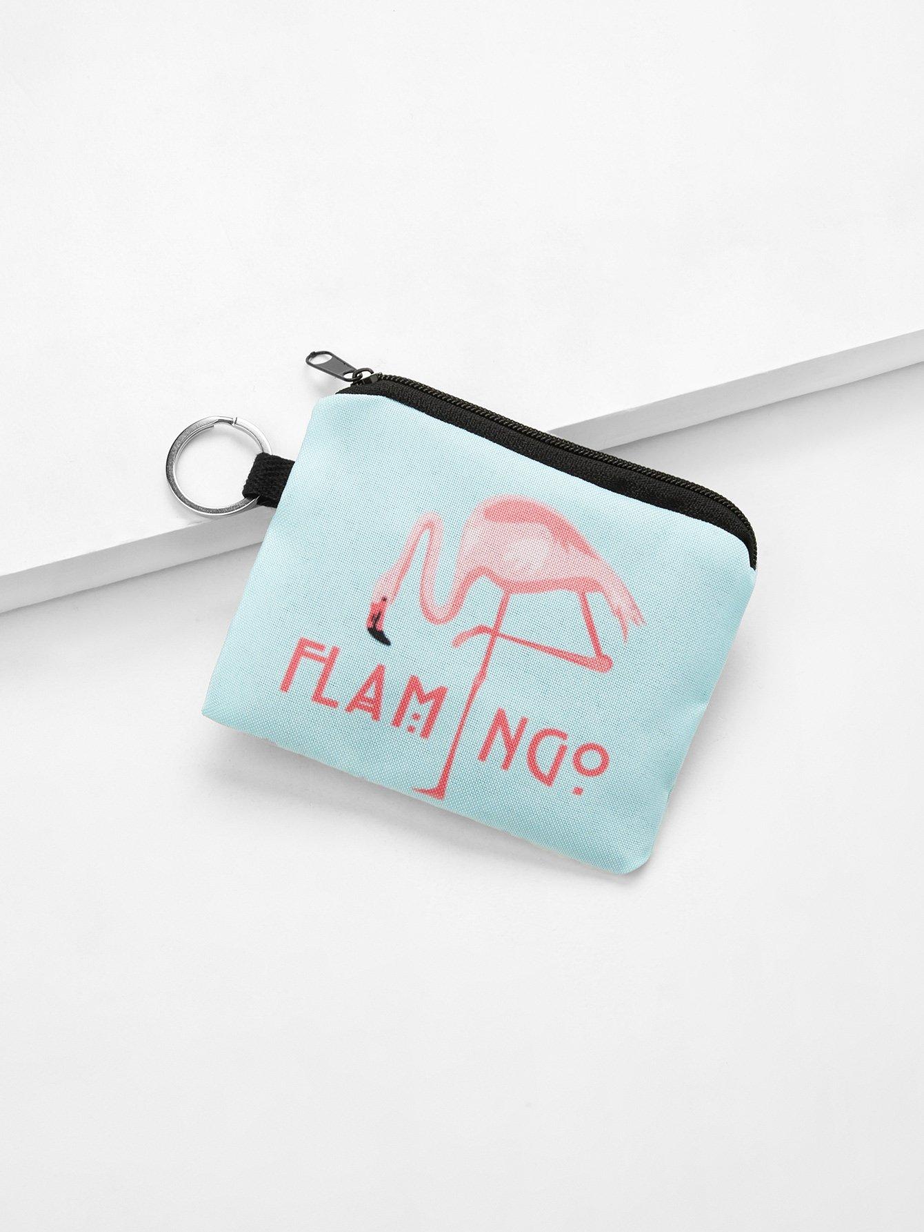 Flamingo Print Coin Purse все цены