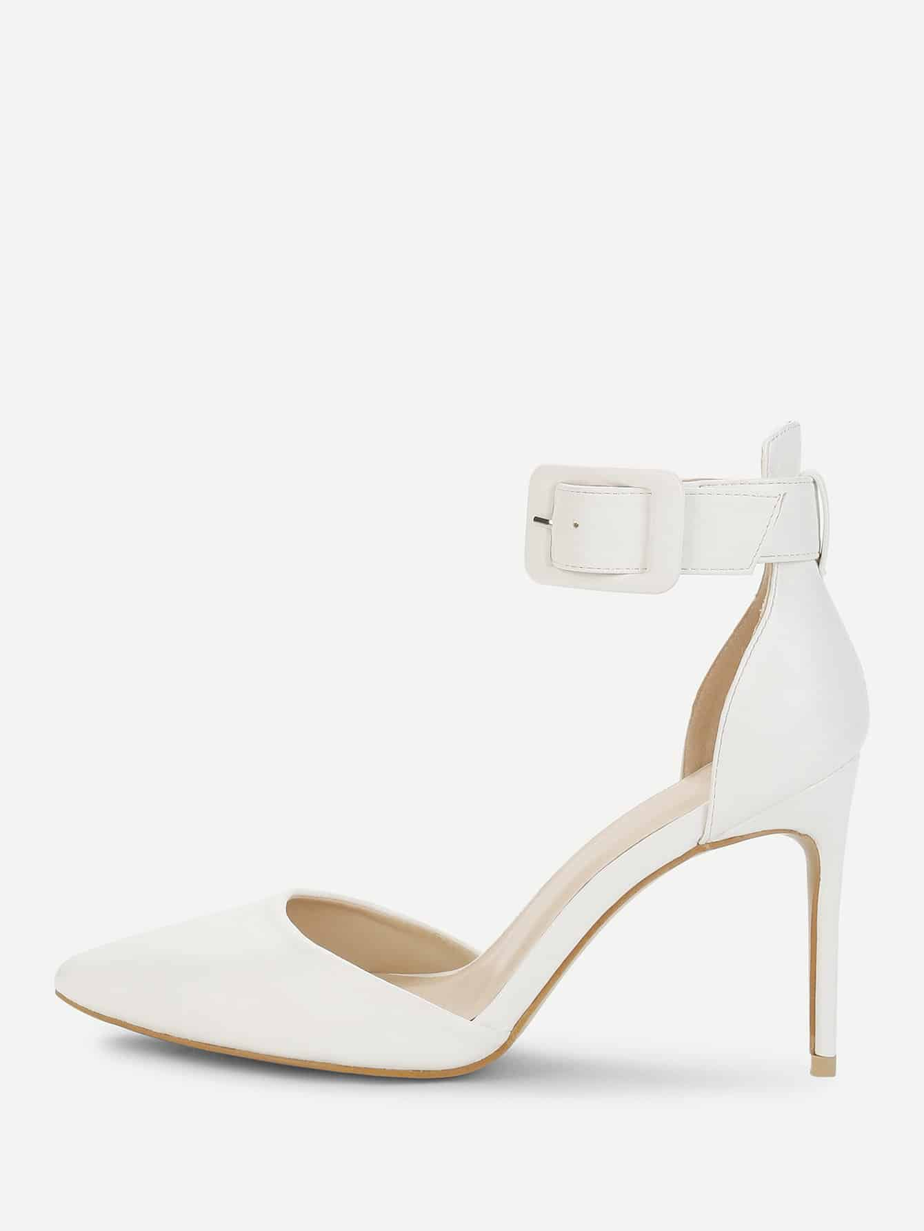 Ankle Cuff Pointed Toe Stiletto Heels цена 2017
