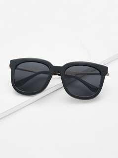 Retro Black Lenses Oversized Square Sunglasses