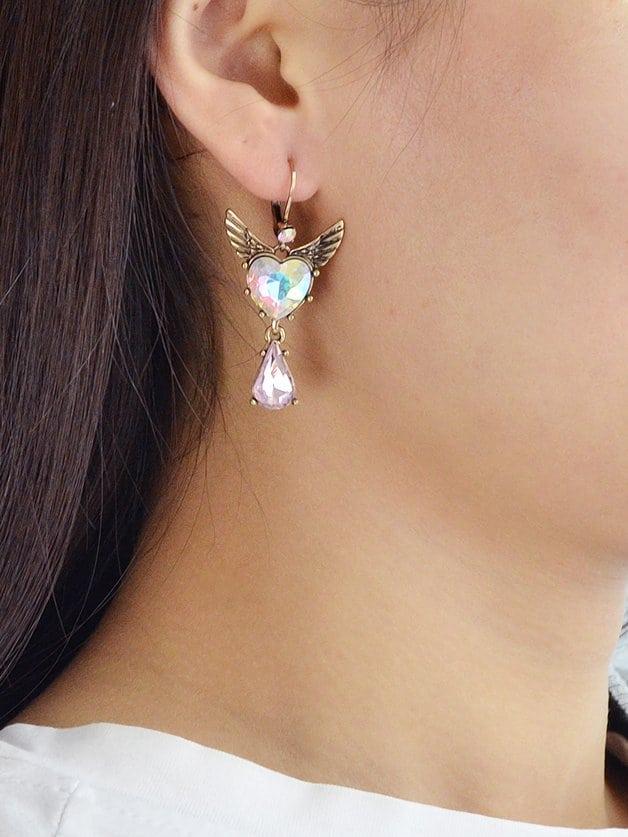 Asymmetrische Flügel Ohrringe