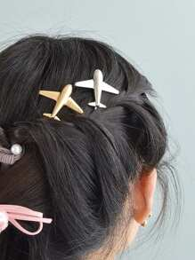 Gold Aircraft Hair Clip