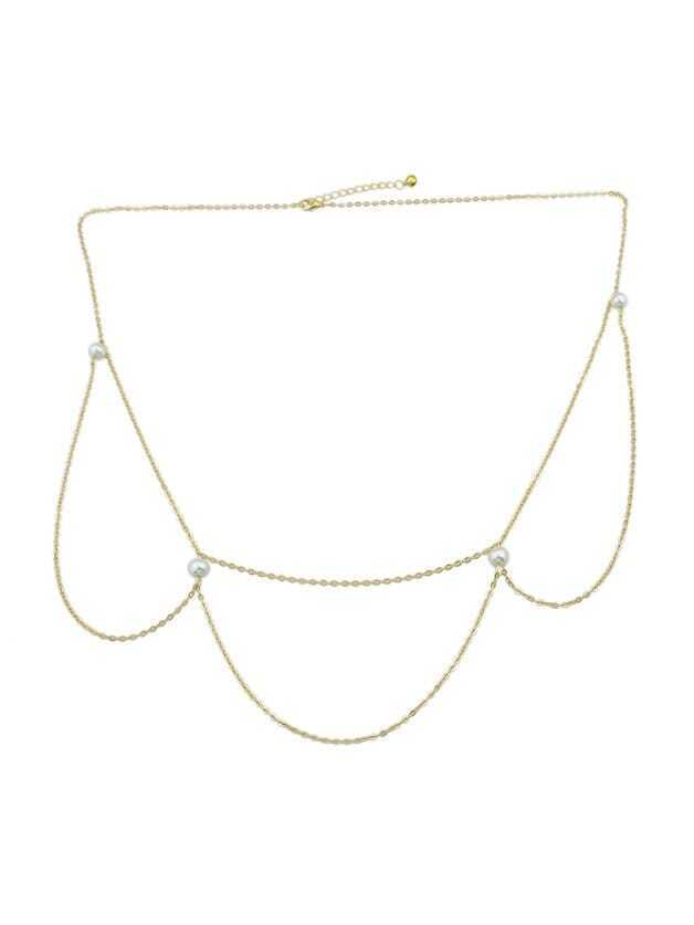 Double Pearl Body Chain