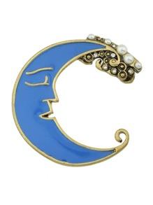 Blue Moon Brooch
