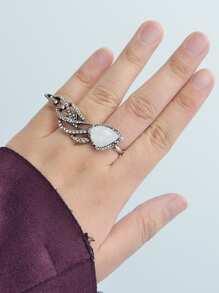 Vintage Diamond Wings Ring