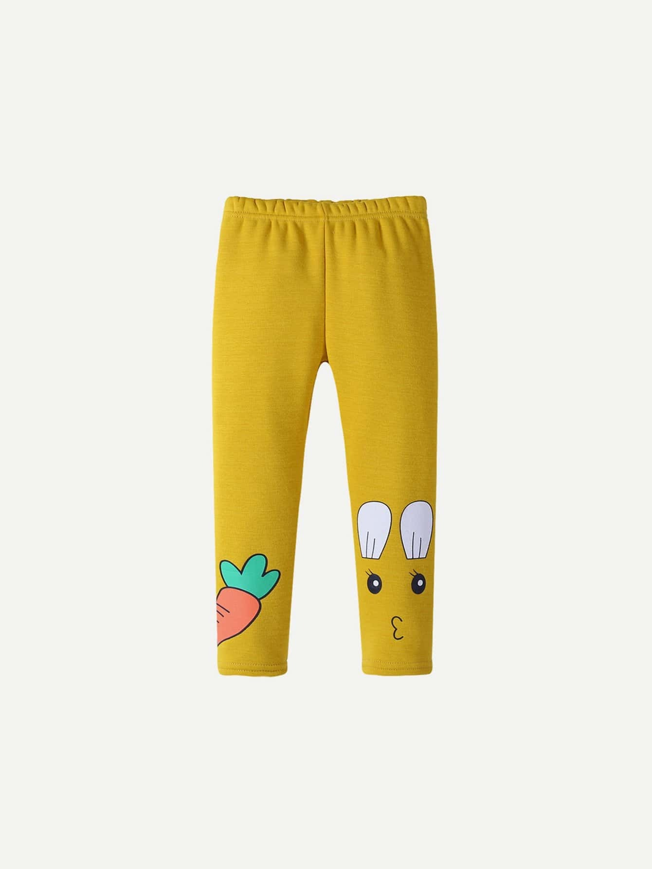 Kids Rabbit Print Leggings rabbit print pullover