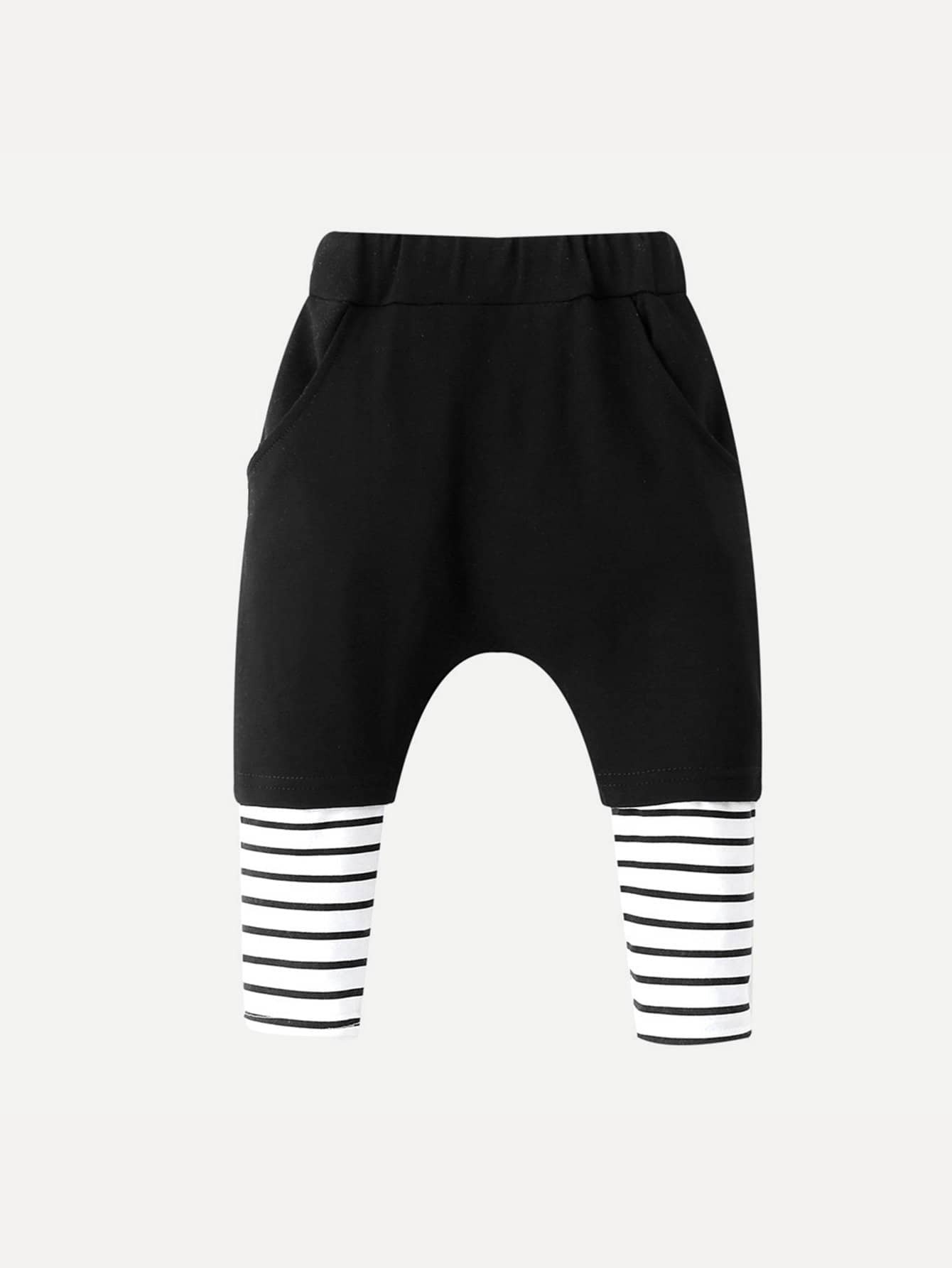 Kids Contrast Striped Pants