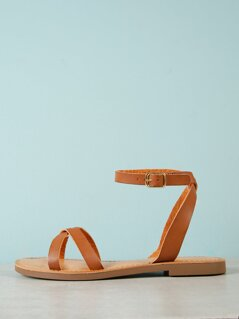 Strappy Ankle Strap Flat Sandal