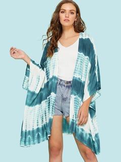Tie Dye Print Kimono
