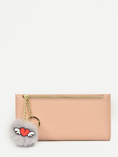 Pom Pom Decor Wallet
