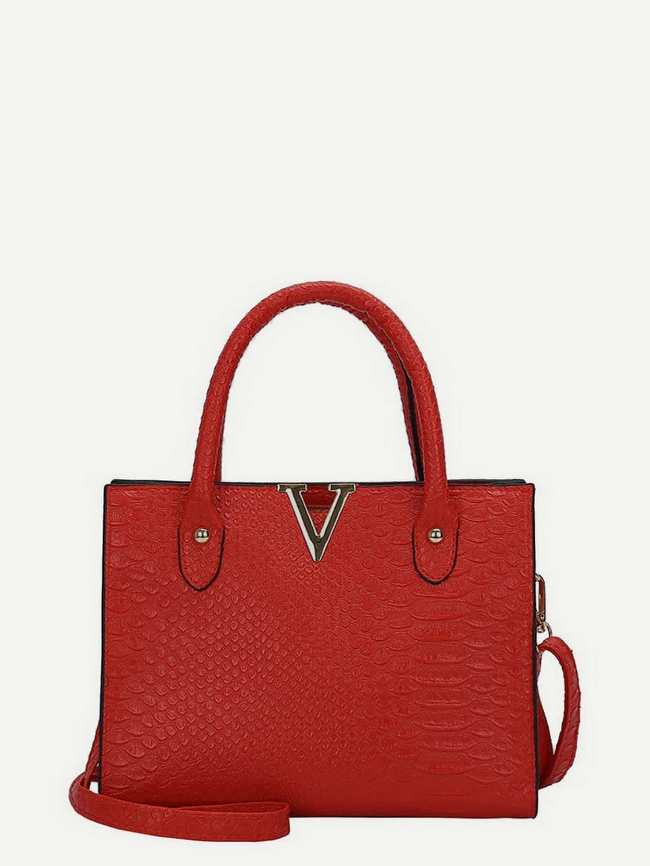 все цены на Crocodile Embossed Grab Bag онлайн