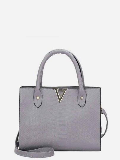 Crocodile Embossed Grab Bag