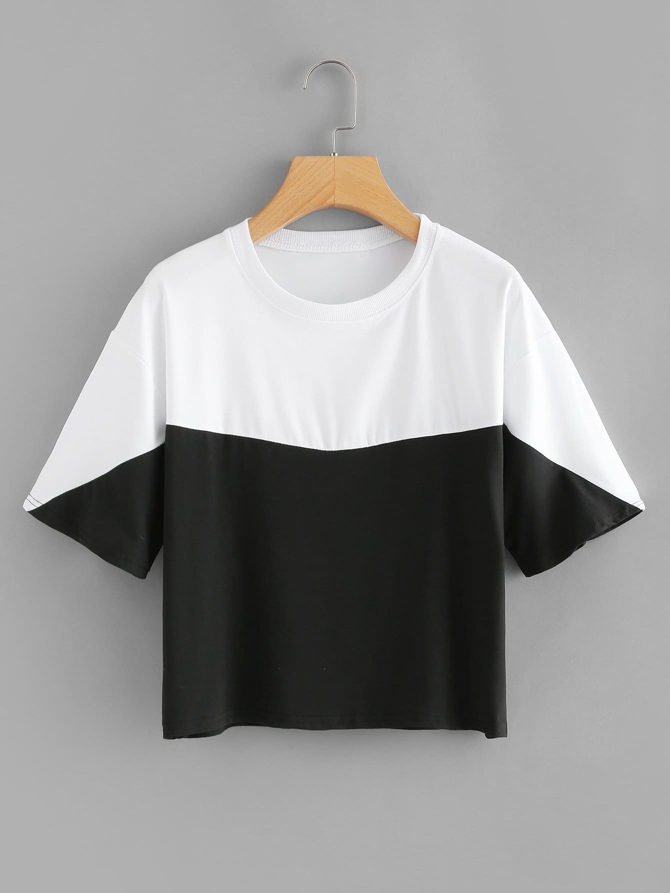 Two Tone Drop Shoulder Tee two tone drop shoulder tee