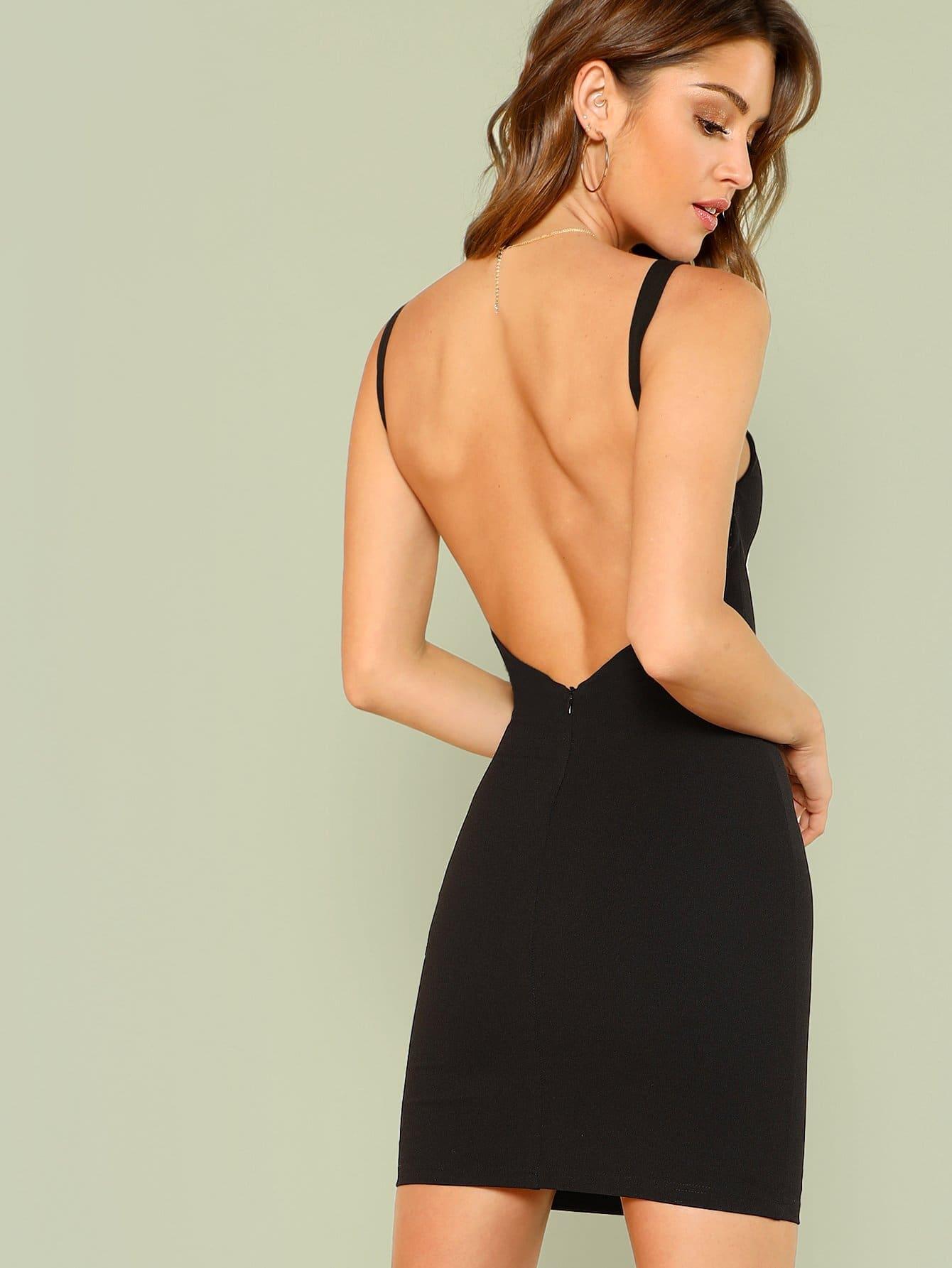 Купить Облегающее платье с открытой спиной, Gigi Paris, SheIn