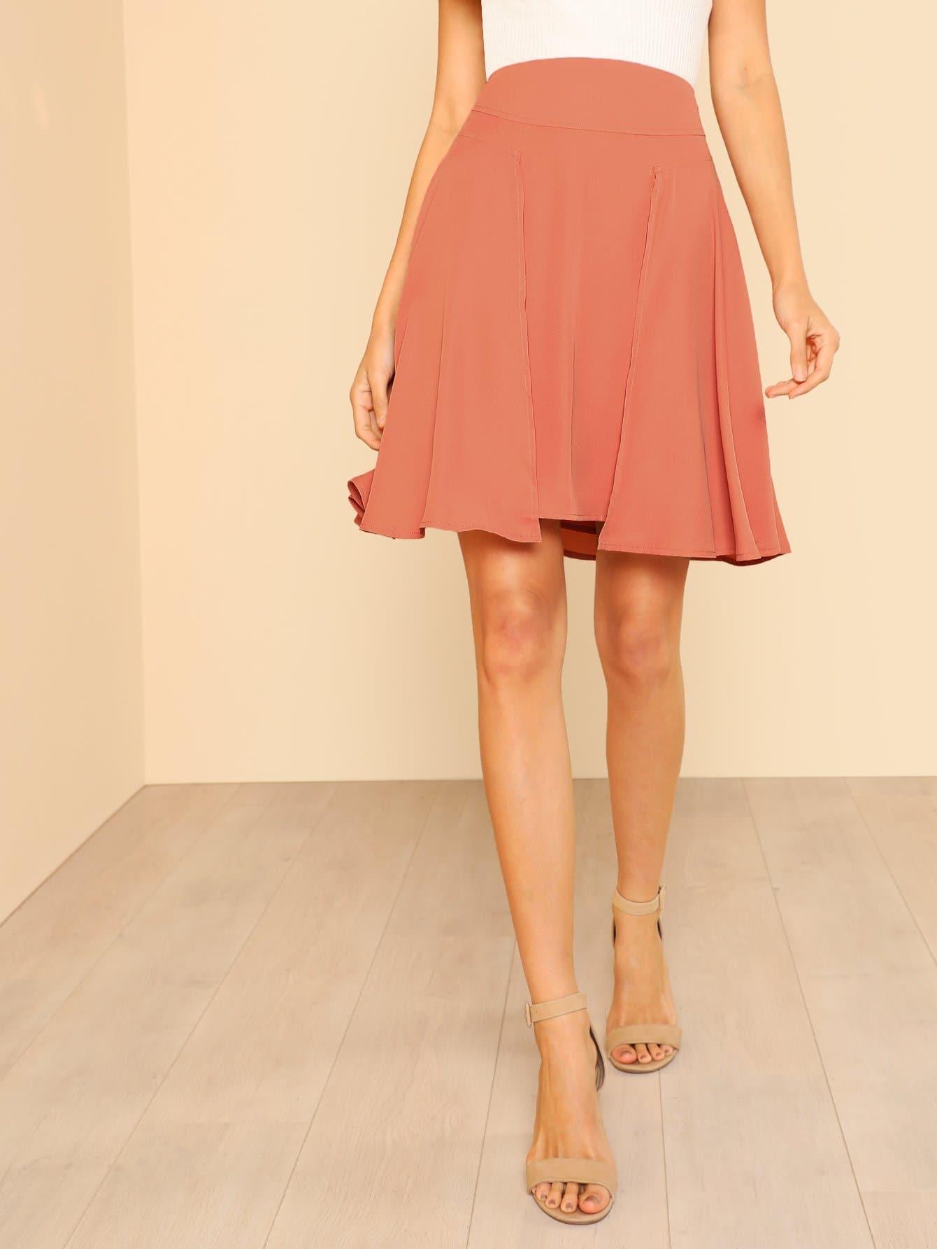 Seam Detail Flared Skirt платье seam seam mp002xw18uic