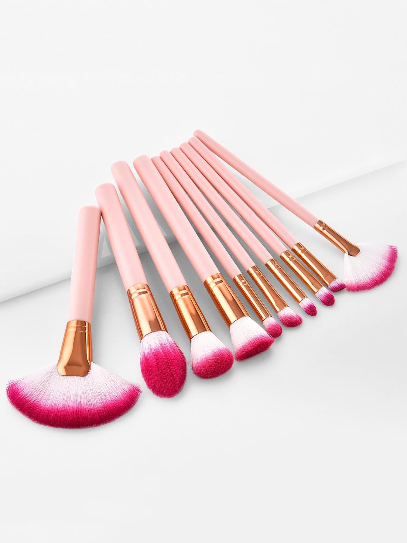 Fan Shaped Makeup Brush 10pcs diamond shaped makeup brush 10pcs