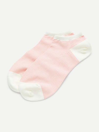 Striped Invisible Socks 2pair