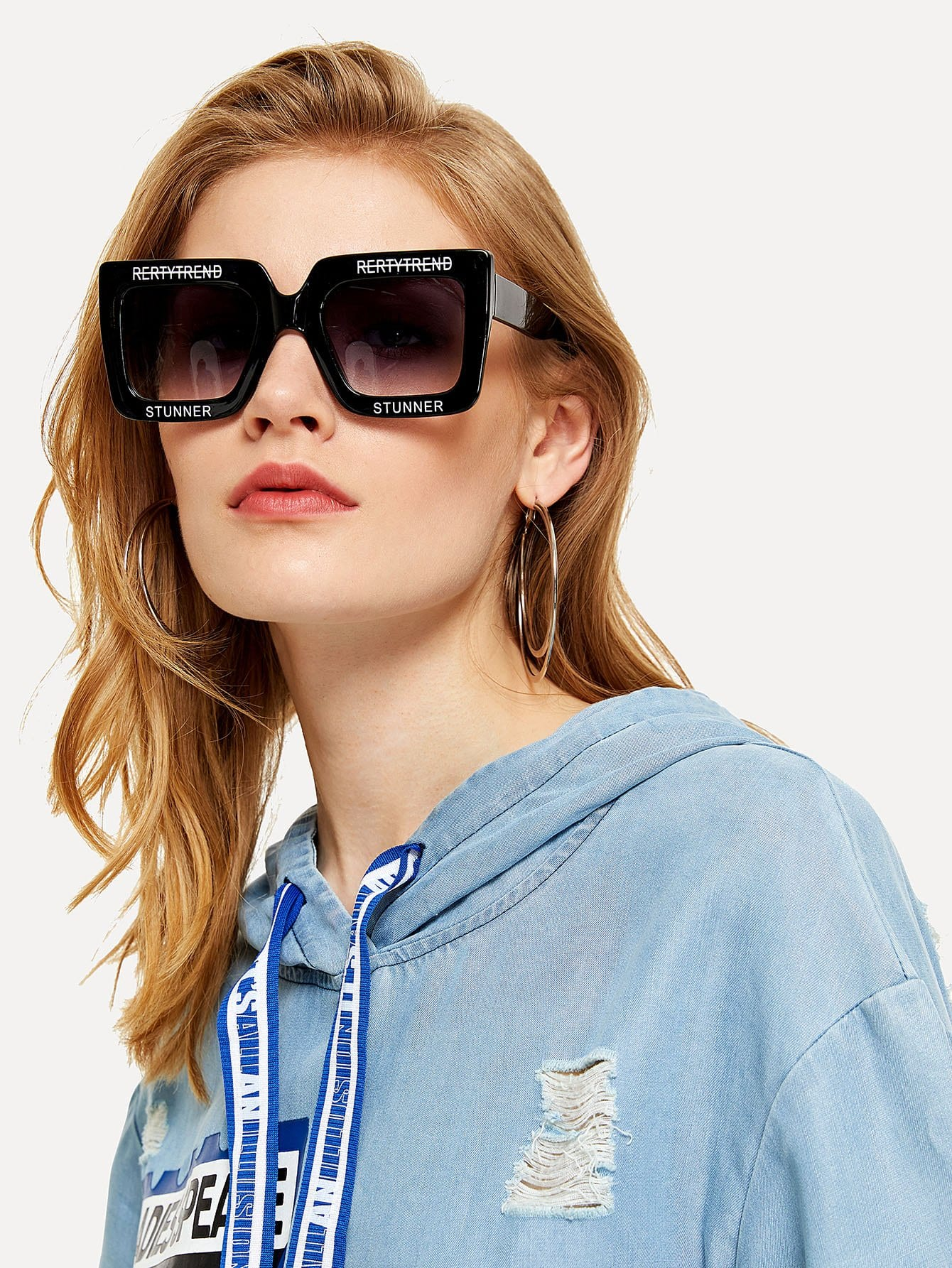 Oversized Square Sunglasses street marble oversized square mirrored sunglasses