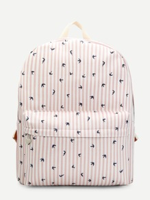 Swallow Print Backpack