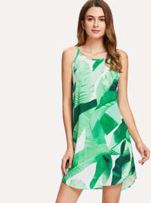 Tropical Geo Print Cami Dress