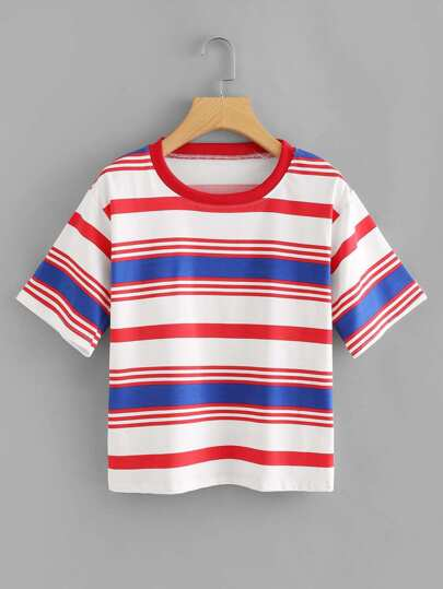 Striped Colorblock Tee