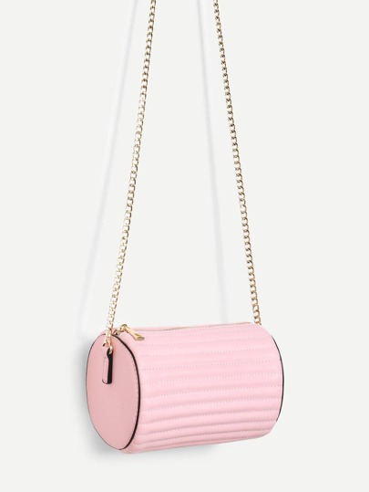 Cylinder Bucket Chain Bag
