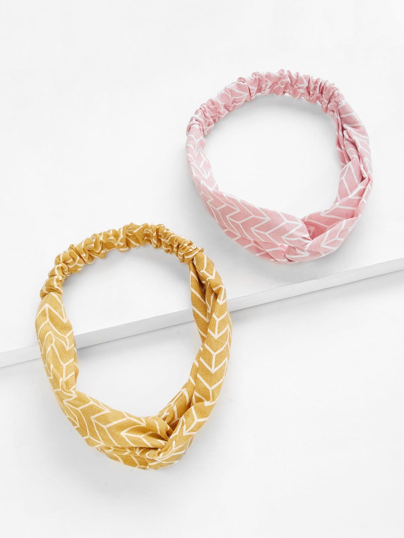 Twist Headband 2pcs rib twist headband