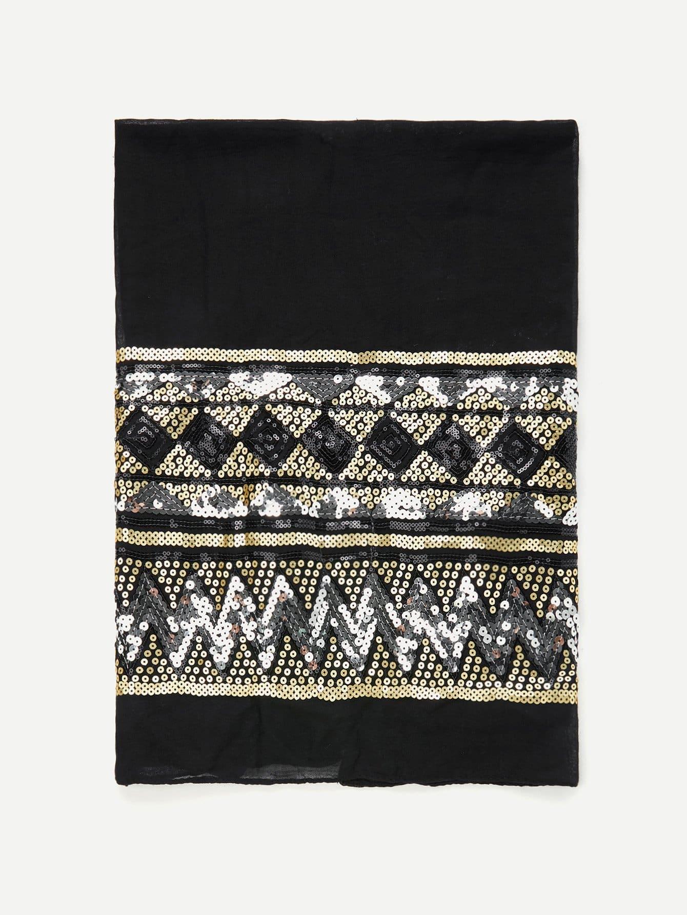 Geometric Sequin Lightweight Scarf ladies cool floral print lightweight scarf