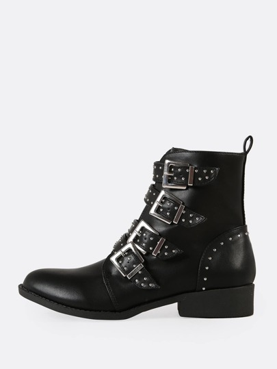 Womens Lace Up Mid Chunky Heel Mid Calf Short Boots With Zip Winter Classic Shoes